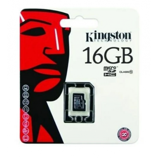 KINGSTON 16GB MICROSD MEMORY CARD CLASS 10