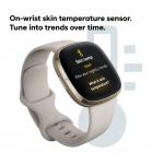 Fitbit Sense | Lunar White & Soft Gold