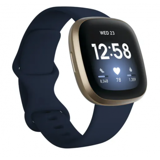 Fitbit Versa 3 | Midnight & Soft Gold