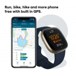 Fitbit Versa 3 | Midnight & Soft Gold