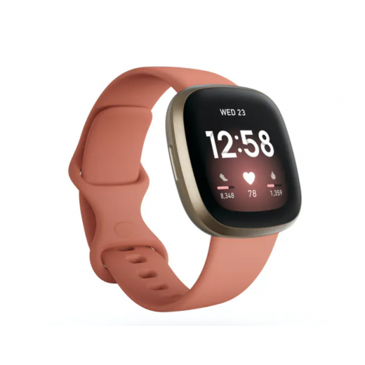 Fitbit Versa 3 | Pink Clay & Soft Gold