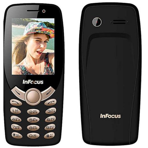 New InFocus Hero Selfie C2 Black Mobile Phone IF9012 Unlocked Dual SIM